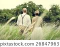 Elderly Senior Couple Romance Love Concept 26847963
