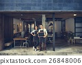 Couple Barista Coffee Shop Service Restaurant Concept 26848006