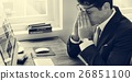 Business Man Frustrated Tired Office Desk Concept 26851100