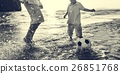 Football Beach Playing Leisure Activity Fun Concept 26851768