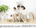 가족 단란 스마트 폰 26858574