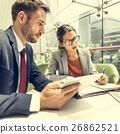 Business People Discussion Digital Tablet Technology Togethernes 26862521
