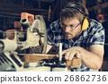Carpenter Craftman Lumber Timber Woodwork Concept 26862736