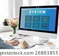 System Content Management SEO Application Graphic Concept 26863855