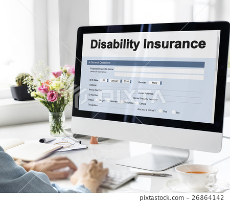 Disability Insurance Claim Form Document Concept 26864142