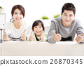 Happy Attractive Young  Family with thumbs up 26870345