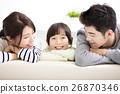 Happy Attractive Young  Family and little girl 26870346