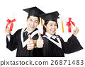 Graduation man and woman education students  26871483