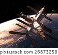 Space Station Orbiting Earth 26873259