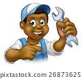 mechanic, spanner, vector 26873625