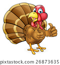 Cartoon Turkey Bird Giving Thumbs Up 26873635