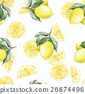 Watercolor seamless pattern with lemos 1 26874496