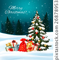 Holiday Christmas background with a sack 26878953