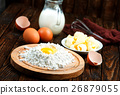 flour,milk, butter and eggs 26879055