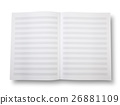 Empty book with pentagrams or score. 26881109