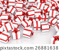 Christmas gift boxes on white background 26881638