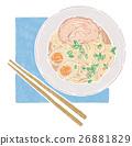 拉麵 雞蛋 麵條 26881829