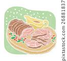 火腿 晚餐 肉 26881837