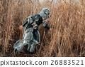 Man wolf werewolf in the grass. 26883521