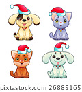 Funny Christmas dogs and cats 26885165