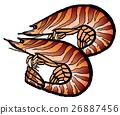 새우, 벡터, 해산물 26887456