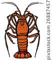 大螯虾 海产品 甲壳动物 26887457