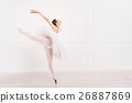 Fabulous ballerina standing on toes 26887869