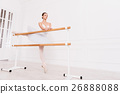 Majestic ballerina doing stretching exercises 26888088