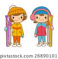 女子滑雪 26890101