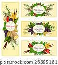 Spice herb and condiment banners for food design 26895161