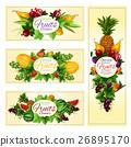 水果 横幅 矢量 26895170