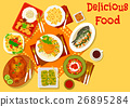 World cuisine popular lunch dishes icon 26895284