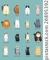 แมว,สัตว์,ภาพวาดมือ สัตว์ 26895392