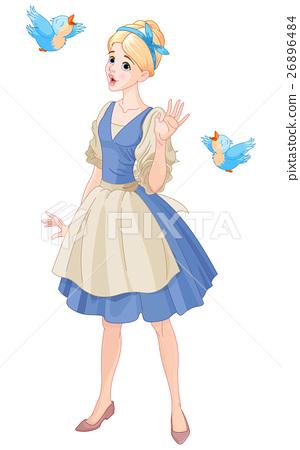 Cinderella Singing with Birds 26896484