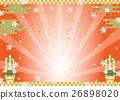 新年的聖誕樹裝飾 日本風格 日式風格 26898020