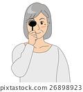 眼科檢查_老年婦女 26898923