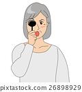 眼科檢查_老年婦女 26898929