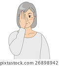 眼科檢查_老年婦女 26898942