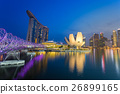 Cityscape of Singapore skyline at twilight time.  26899165