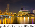 Cityscape of Singapore skyline at night time.  26899167