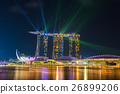 Beautiful laser show at Marina Bay Sands Hotel  26899206