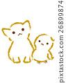 새 고양이 단짝 유년 26899874