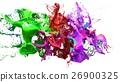 liquid ink colourful eplosion. 3d illustration 26900325