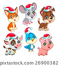 Funny Christmas farm animals 26900382
