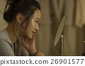 年轻女性的皮肤护理 26901577