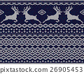 lue knitted sweater with deer seamless pattern 26905453