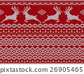 Seamless ethnic knitting with Christmas deer 26905465