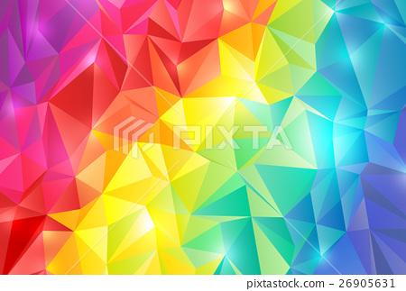 彩虹顏色多邊形背景 26905631