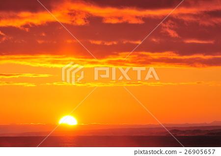 在太平洋上空的日落 26905657