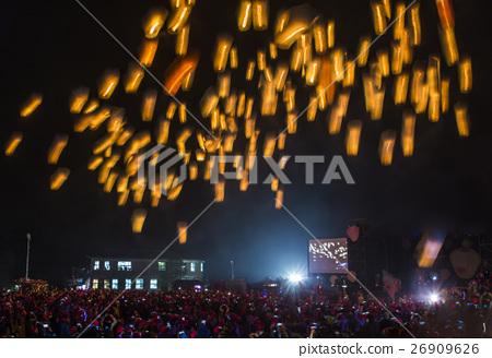 放天燈 오버 년으로 전통. 26909626